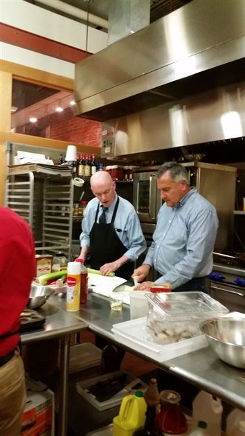 Cooking class at Billings Forge