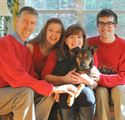 Jeff, Debi, Jake & Mary with Rocky