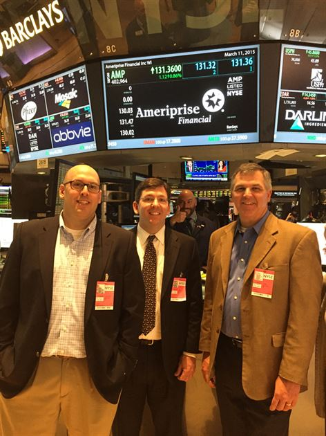 King, Prell Team NYSE Visit