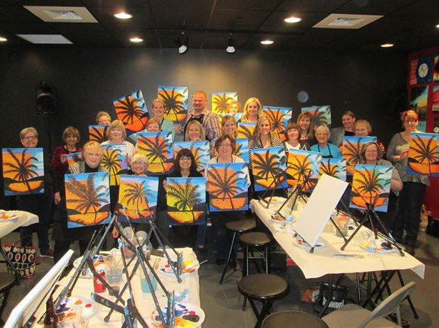 Wine and Canvas Ladies Night!