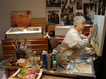 Artist Mary Brock