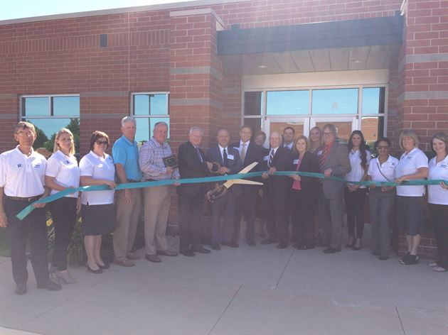 Ribbon Cutting at Hiawatha office