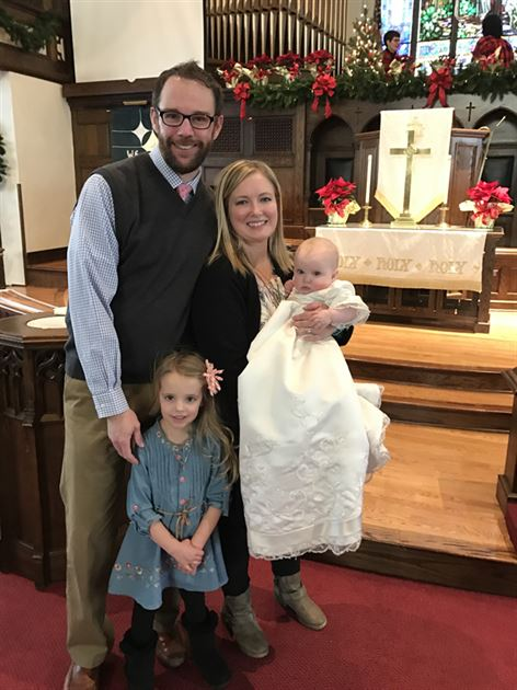 Stella's Baptism and Family Picture