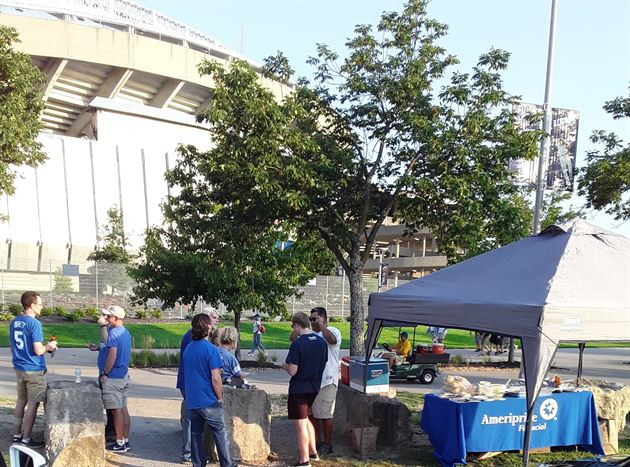 An evening of tailgating at The K