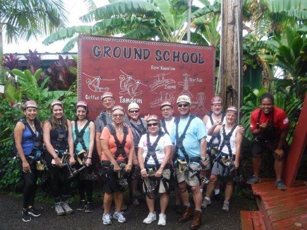 Hawaiian zip lining 2017