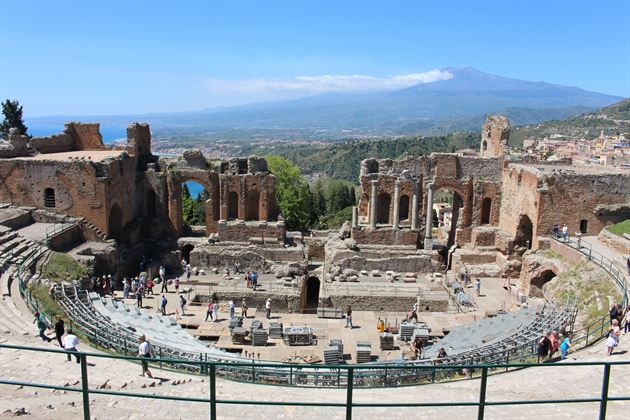 Sicily-Greco Ampitheater & Mt Etna
