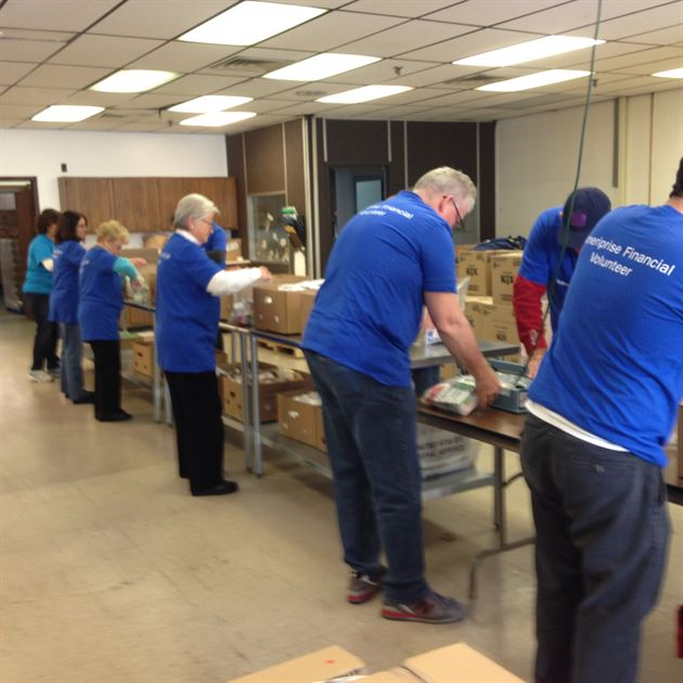 Day of Service at CT Food Bank