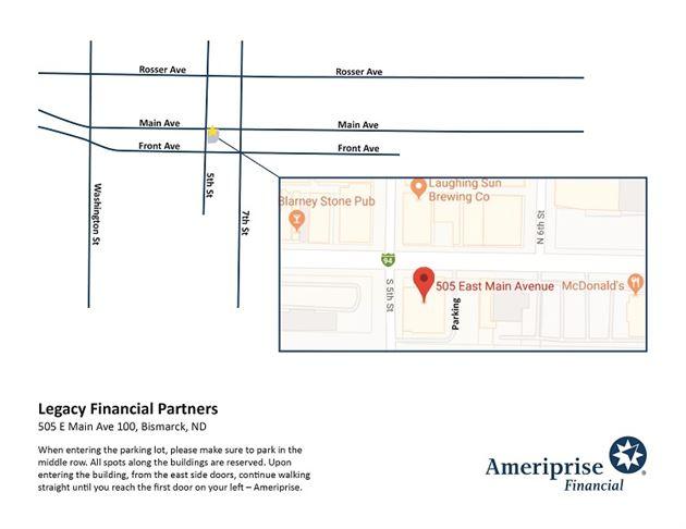 Parking map for Ameriprise