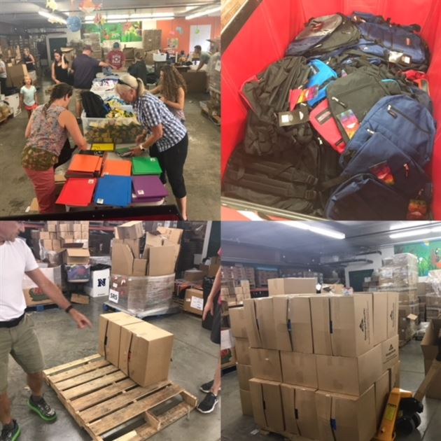 Backpack Packing August 2018
