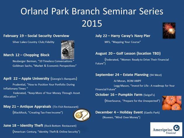 2015 Seminars and Events
