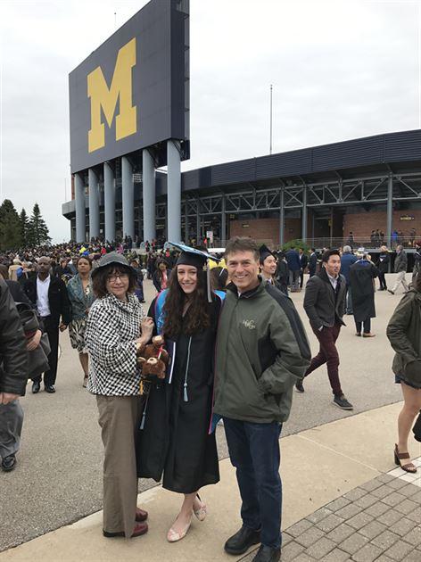Hannahs graduation from U of M 2017