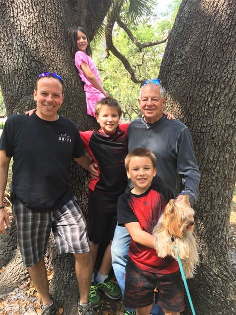 Me my dad and kids - Michael Walder