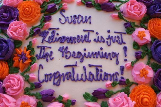 Celebrating Susan's Retirement