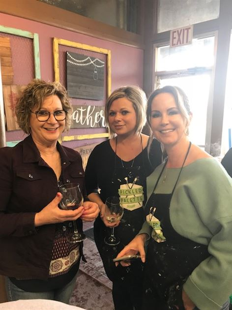 Paint and Wine Event March 2018