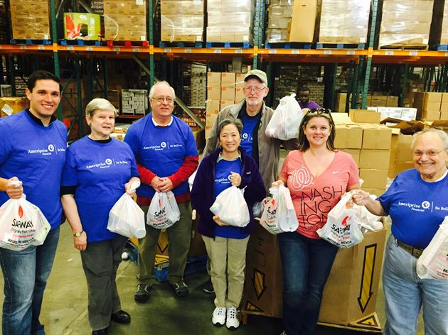 Volunteering local food bank