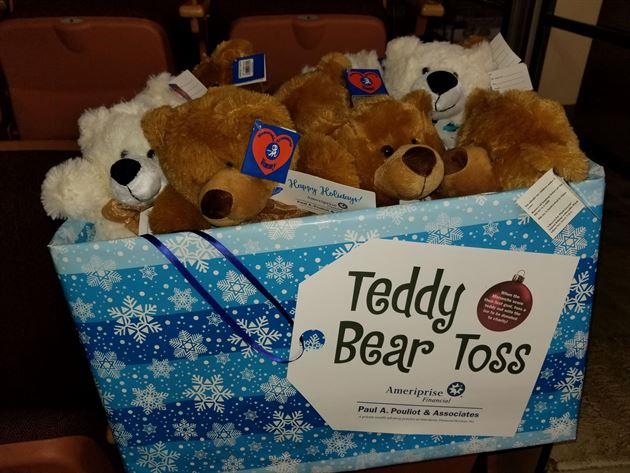 Monarchs Holiday Teddy Bear Toss