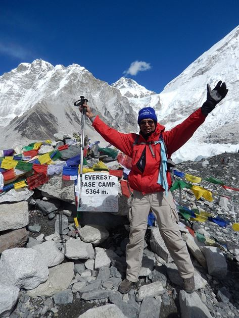 Everest Base Camp on Oct 17, 2015