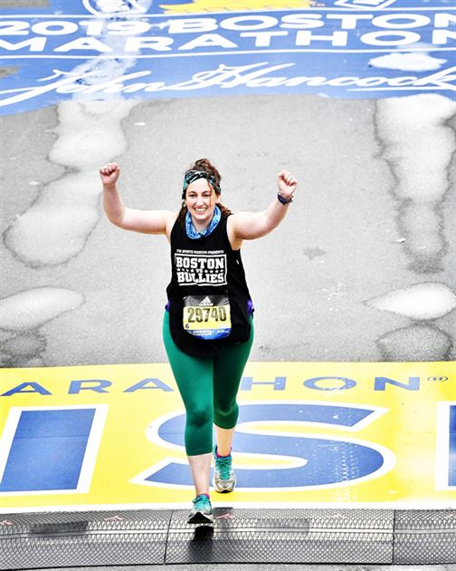 My Daughter at the Boston Marathon