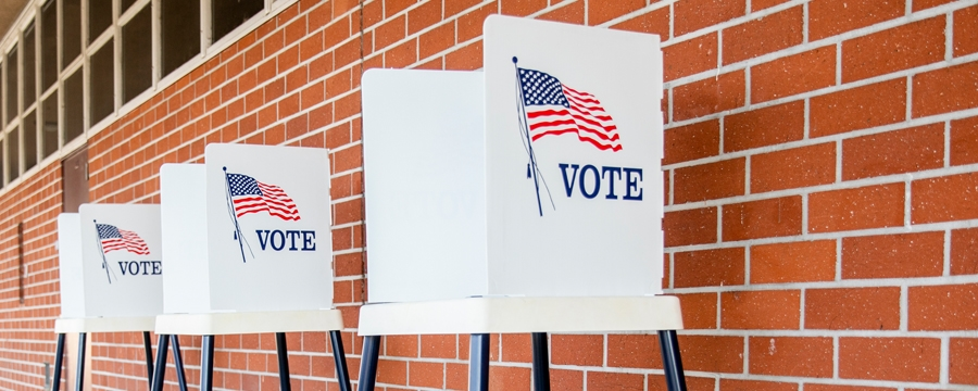 Voting stations - mid-term elections impact on markets
