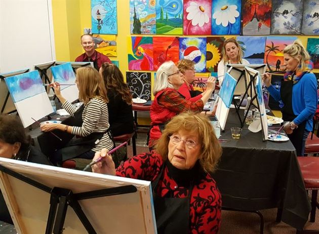 Cheers and Paint Event on 12/6/16